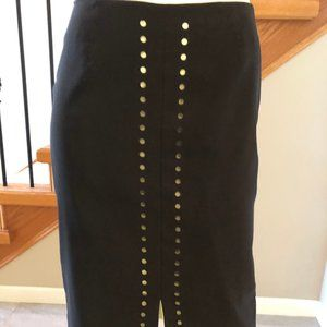 SPANNER lined black skirt sz 4 - EUC